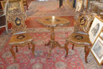 19th century chairs and gueridon