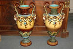 Late 19th c. Sarreguemines vases