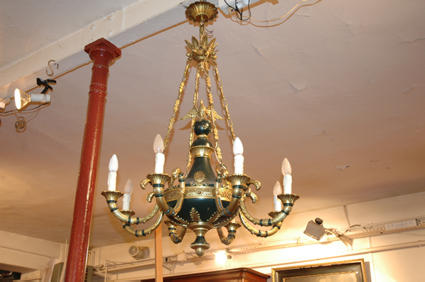 Empire-style chandelier