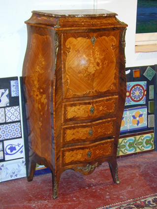 louis xv style secretaire. Black Bedroom Furniture Sets. Home Design Ideas