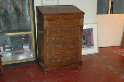 Late 19th century writing case piece of furniture