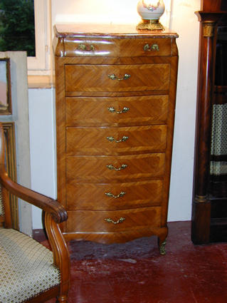 Louis XV-style chest of seven drawers