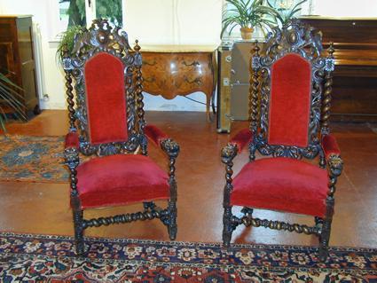 fauteuils de style louis xiii. Black Bedroom Furniture Sets. Home Design Ideas