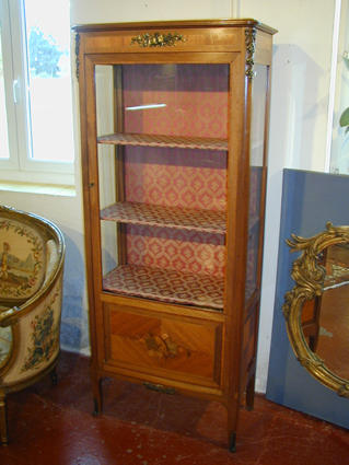 Louis XVI-style display cabinet